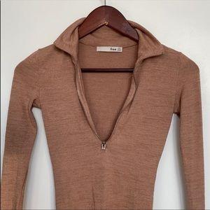 Aritzia Wilfred Zip Up Bodysuit